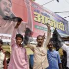 Kanhaiya's supporters thrash protester for waving black flag during his speech