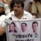 Vadra on Congress 'democracy march' posters, BJP calls it 'dynasty march'