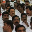 Stalin pushed to back rows at Jaya swearing-in, Karunanidhi livid