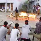 Political slugfest over Bajrang Dal arms training camp