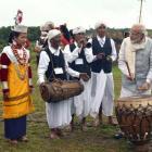 In Meghalaya, PM Modi tries his hand at 'Ka Bom'