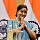 Pak envoy meets Sushma, no talks on Jadhav