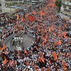 Maratha community holds silent march in Pune