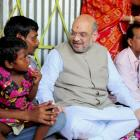 Lotus will bloom, says Shah in Naxalbari