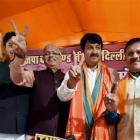 BJP sinks AAP, Congress in Delhi civic polls