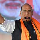 Rajnath slams Rahul; says BJP trying to douse fire lit by Congress