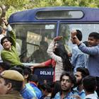 ABVP, AISA clash at DU College; many, including cops, injured