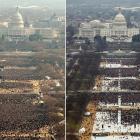 Trump's inauguration drew fewer crowd than Obama's