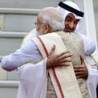 PM receives R-Day parade chief guest Crown Prince of Abu Dhabi