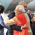 Vote: Modi's Obama hug vs Modi's Trump hug