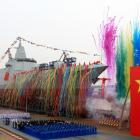 China launches biggest new generation naval destroyer