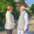 PHOTOS: Modi meets Merkel at country retreat in Germany