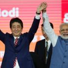 Modi greets 'dear friend' Abe on re-election