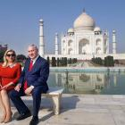 On Day 3 of visit, Netanyahu visits Taj