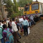 Mumbaikars stranded as job-seekers block railway tracks