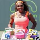 I didn't know I had 700 wins, gushes Serena
