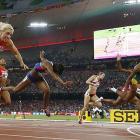 World Athletics PHOTOS: Williams stuns favourites to take hurdles gold