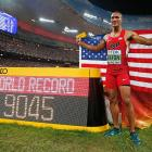 Peerless Eaton breaks decathlon world record