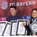 Bayern's Lewandowski bags FOUR Guinness World Records