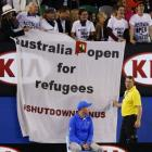 Refugee protest at Australian Open final