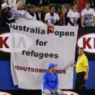 Refugee protest at Australian Open final