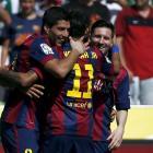 Suarez grabs hat-trick as Barca rout Cordoba 8-0