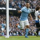 Aguero hits five as Man City crush Newcastle to go top