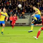 Euro qualifiers: Zlatan strikes again as Sweden head for playoffs