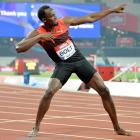 Bolt shines on London return but hurdler Harrison takes the glory