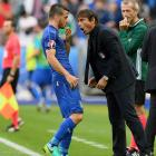 Flamboyant Conte roars out of garage and burns up grass