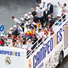 PHOTOS: Kings of Europe Real Madrid take celebrations to the street