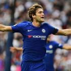 EPL PHOTOS: Alonso double for Chelsea spoils Spurs' Wembley opener