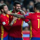 Football PHOTOS: Spain, Italy register easy wins