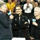 Watch: Federer's entertaining exchange with comedian Will Ferrell