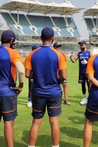 India begin nets session; Shastri, Kohli welcome squad