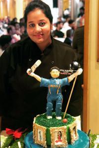 The chef who designed Sachin's 45th birthday cake