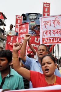 Strike by 10 trade unions begins; transport, banking to be hit