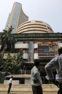Sensex slips from record on profit-booking