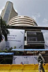 Sensex ends flat in volatile trade
