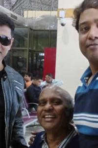 Spotted: Tamil actor Vikram at Srinagar airport