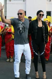 PIX: Vin Diesel arrives in Mumbai, Deepika welcomes him