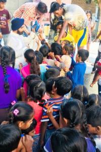 Opposing 'selective ban', Delhi BJP leader distributes crackers to children