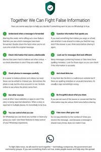 WhatsApp's 10 easy tips to spot fake news, hoax