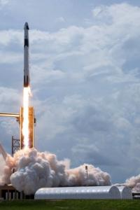 Historic SpaceX ship blasts off with 2 NASA astronauts