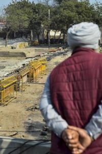 Farmers plant sugarcane, potatoes near protest sites
