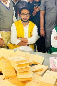 Tej Pratap bombards Prez with postcards seeking Lalu's release