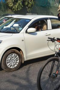 'Come out of AC car': Robert Vadra, on cycle, to PM over fuel price