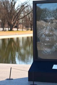 Kamala Harris' glass portrait unveiled in her honour