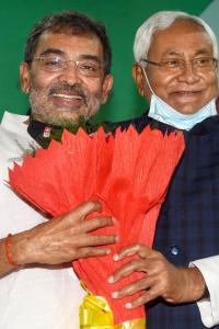Upendra Kushwaha merges his party with Nitish's JD-U