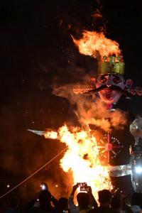 Effigies of Ravana go up in flames as India celebrates Dussehra